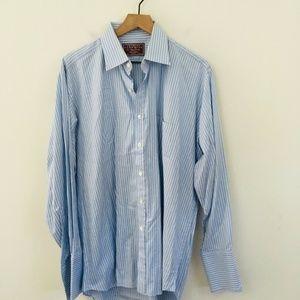 Charles Tyrwhitt Blue Stripe Dress Shirt 17